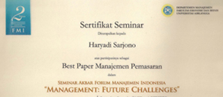 The Best Instructor in Management Debate Competition, Bandung