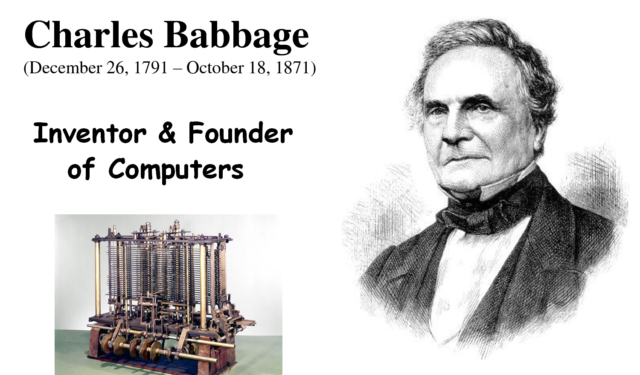 charles babbage, ones who sees management in a more rational and analytical way
