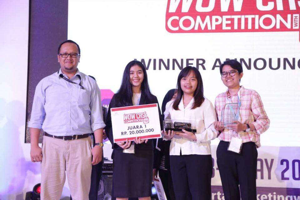 IMCB (International Marketing Community of Binus University) Delegates Won 1st Place on WOW Case Competition 2017 with Pertamina Go